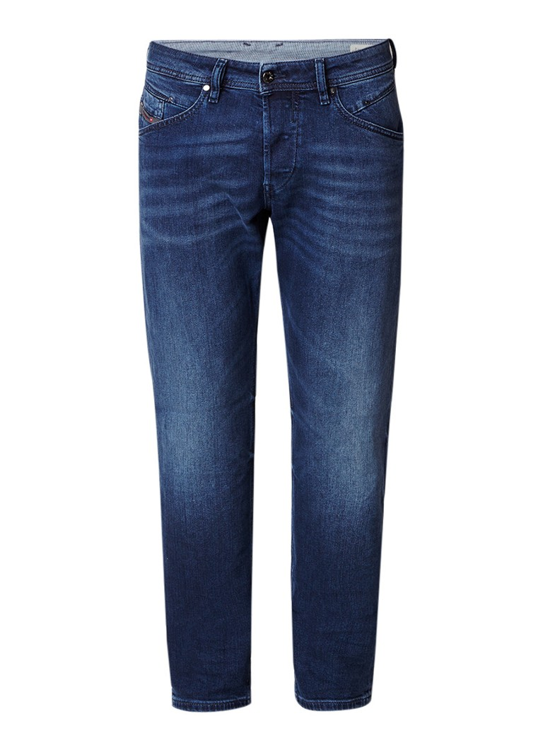 Diesel Belther regular slim-tapered fit jeans met stretch 084SY