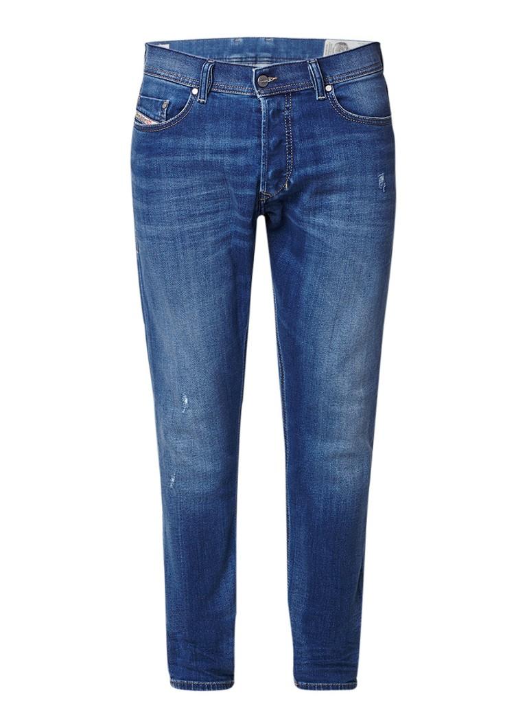 Diesel Tepphar slim-carrot jeans met destroyed details 084QQ