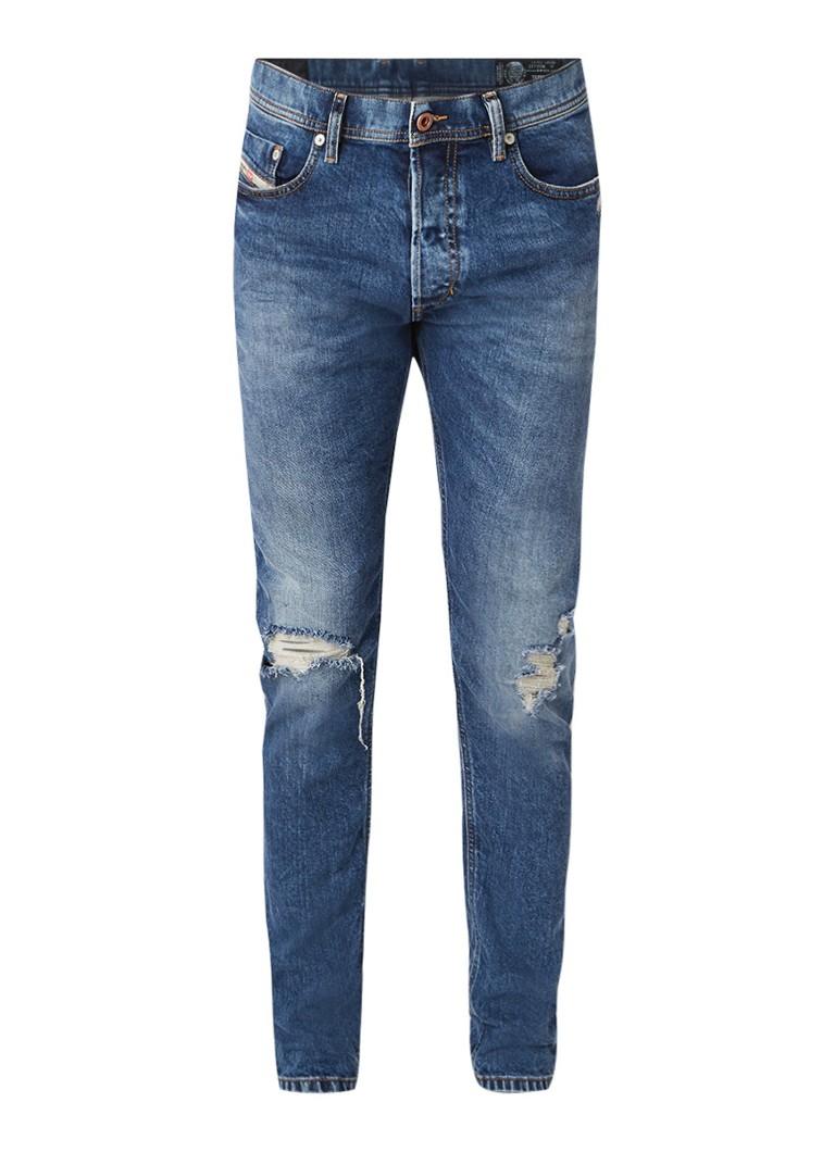 Diesel Tepphar slim-carrot jeans met destroyed details 084XT