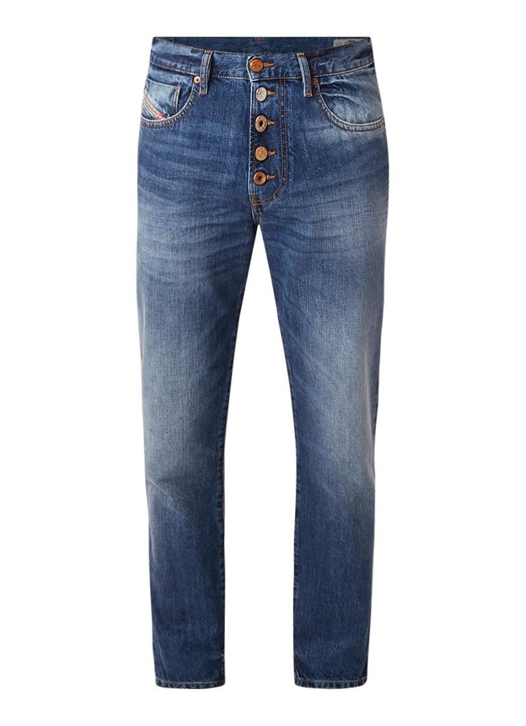 Diesel Mharky-B slim skinny fit jeans met gerafelde zoom