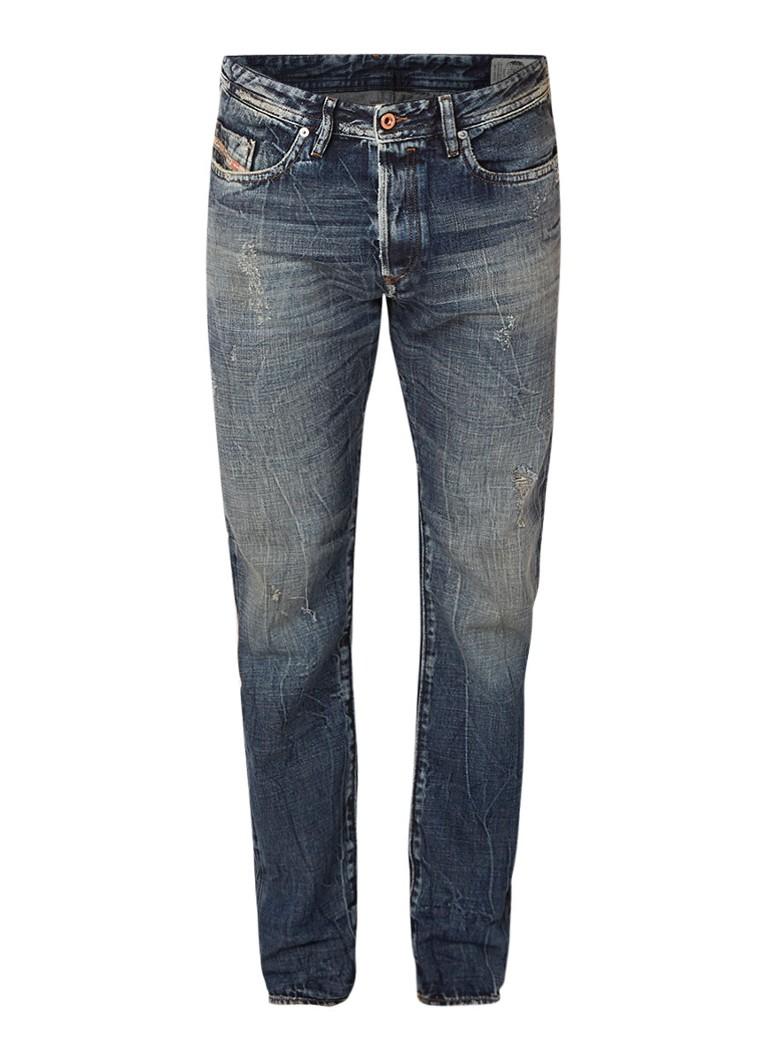 Diesel Buster regular slim-tapered fit jeans met destroyed afwerking 084WN