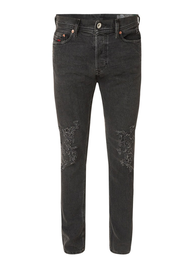 Diesel Tepphar slim-carrot jeans met destroyed details 085AJ