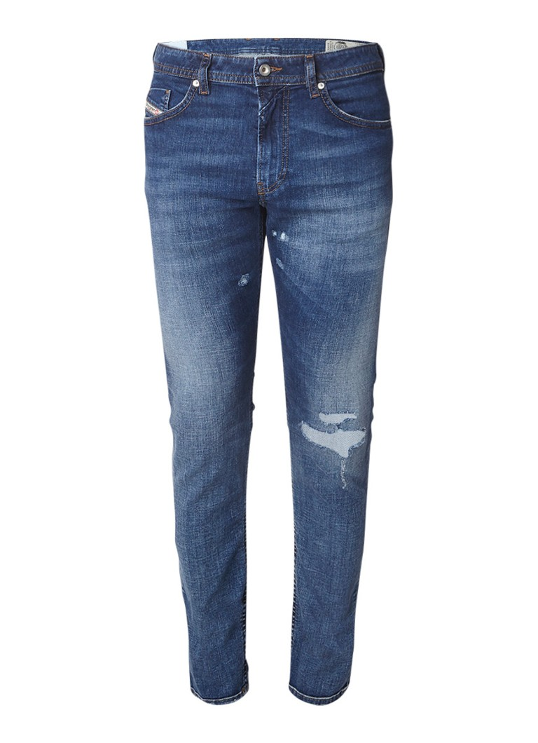 Diesel Thommer slim fit skinny jeans met destroyed details 008W1Q