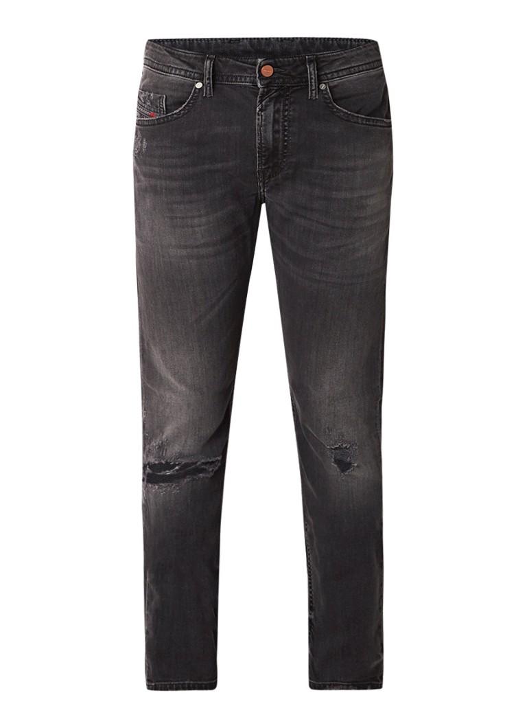 Diesel Thommer slim skinny fit jeans met destroyed details