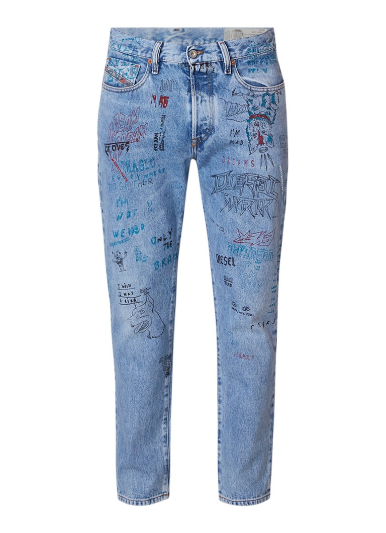 Diesel Mharky skinny fit jeans met tekeningen