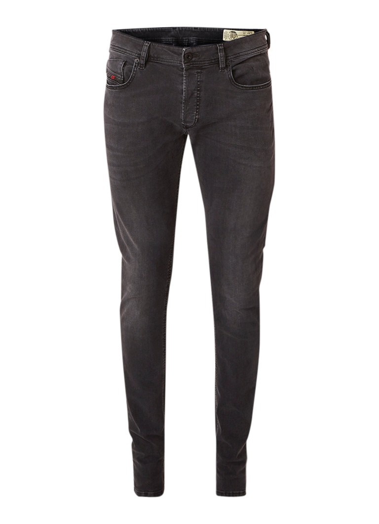 Image of Diesel Sleenker skinny jeans met faded look