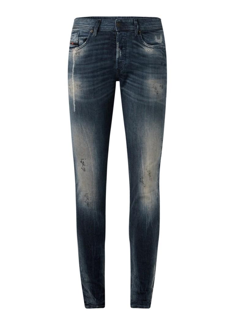 Diesel Sleenker-X skinny fit jeans met ripped details