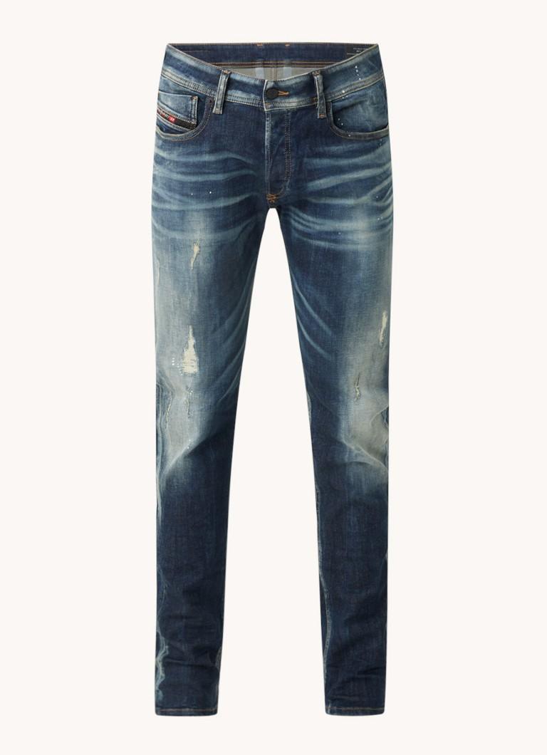 Diesel Sleenker slim fit jeans met donkere wassing
