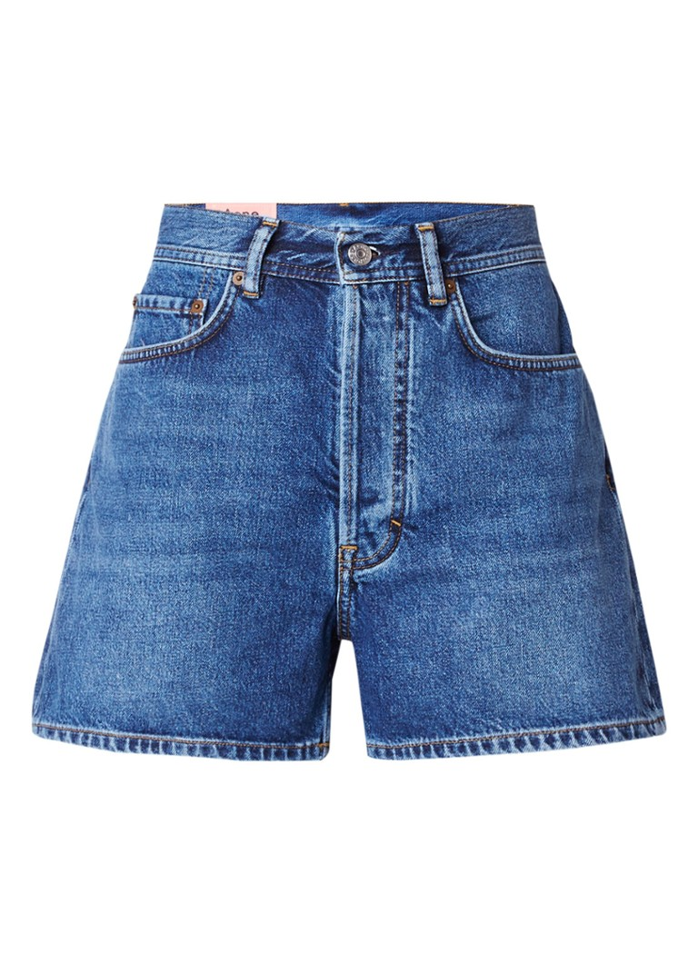 Acne Studios Swamp high waist shorts van denim