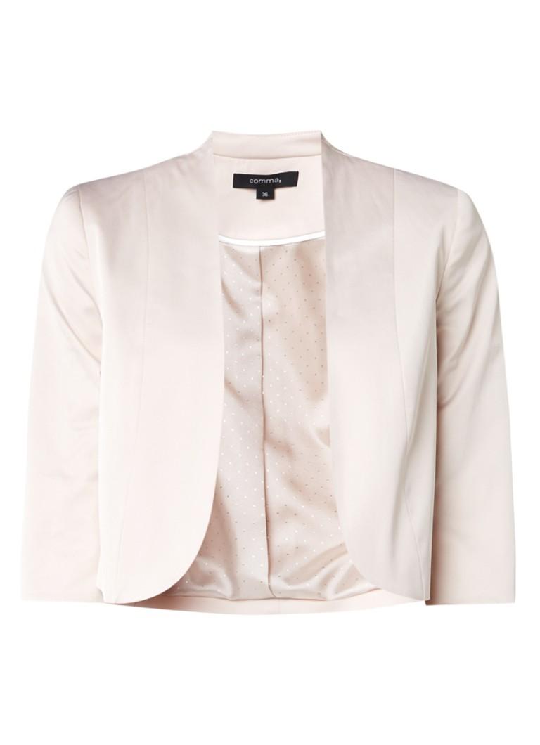 Comma Ros cropped blazer met driekwartsmouwen