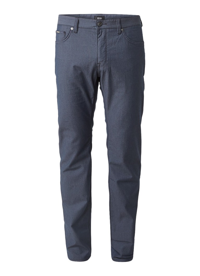 HUGO BOSS Maine3-20 slim fit chino met micro dessin