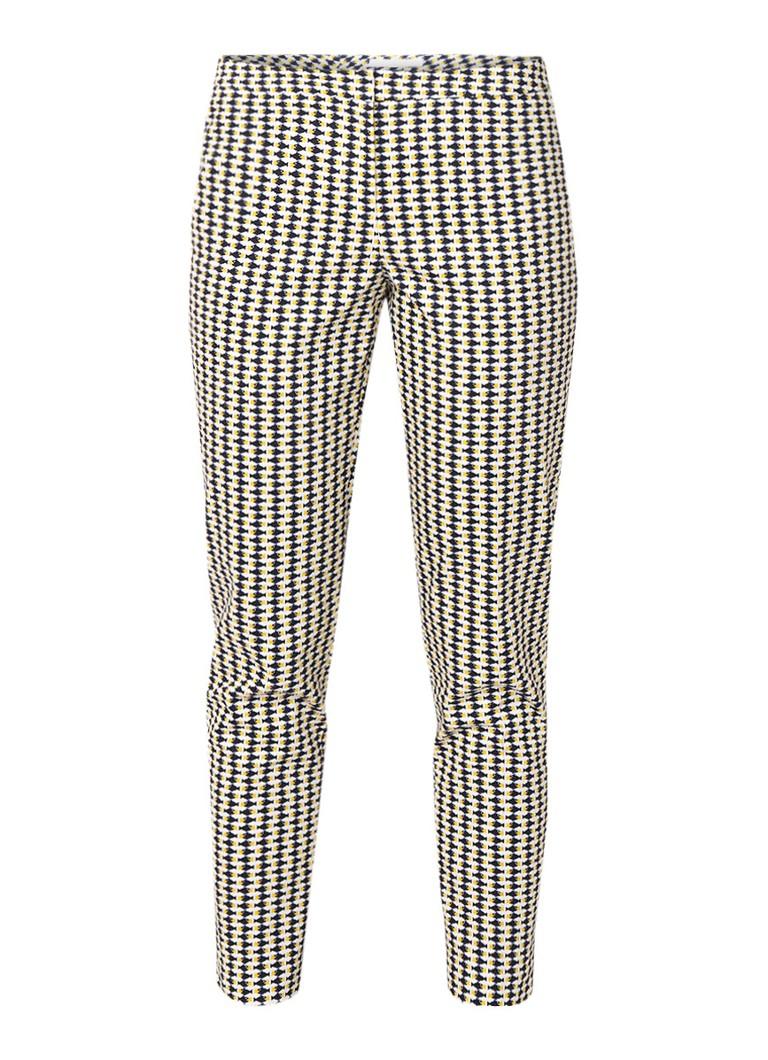 HUGO BOSS Tiluna slim fit cropped pantalon met vissendessin