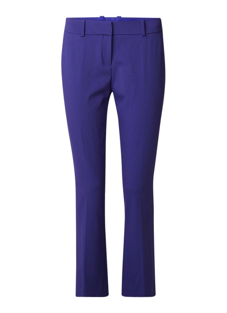 HUGO BOSS Talenara1 cropped straight fit pantalon in scheerwolblend