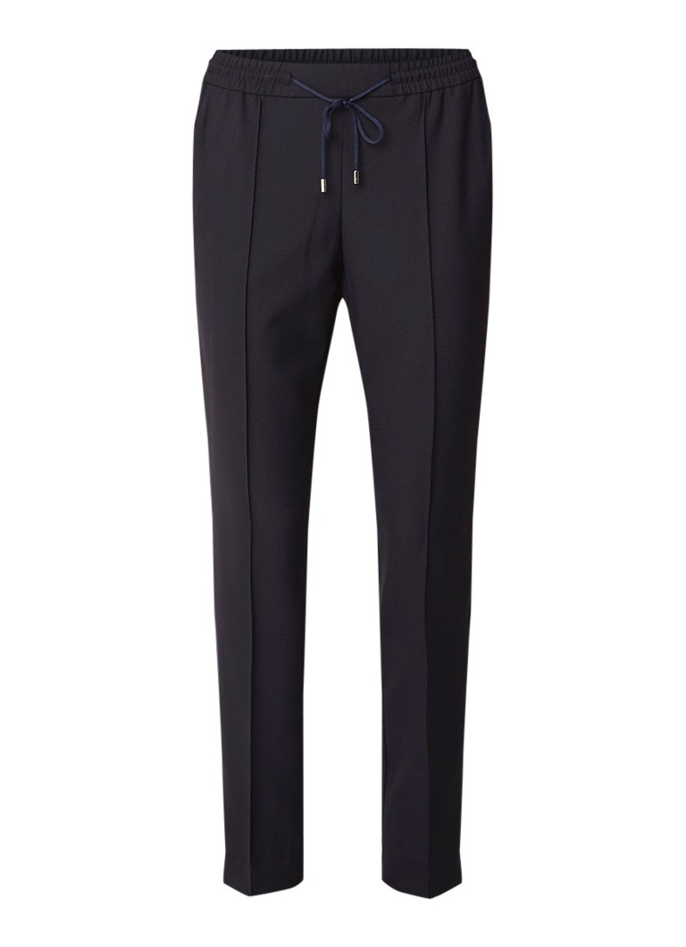Image of HUGO BOSS Ahwa high rise pantalon met streepdetail