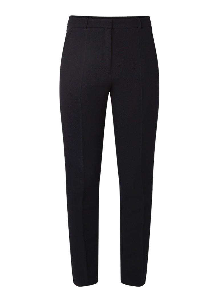 Image of HUGO BOSS Acnes9 slim fit pantalon van stretchjersey met structuur