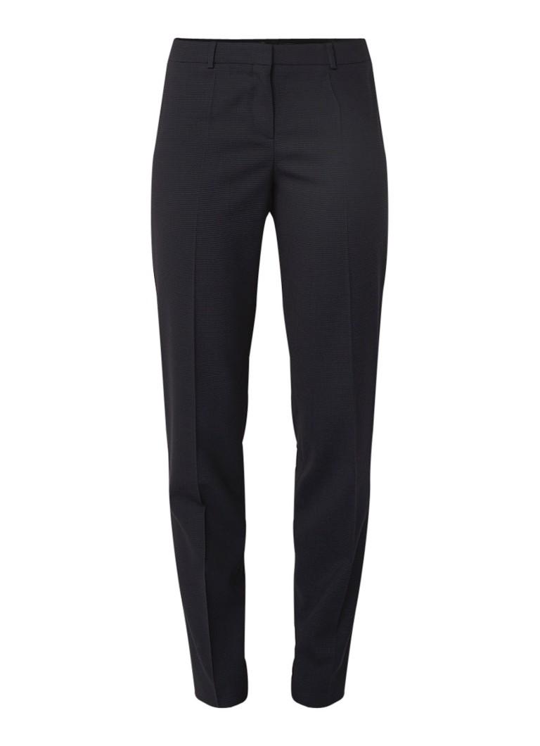Image of HUGO BOSS Tiluni1 slim fit pantalon van scheerwol met stretch