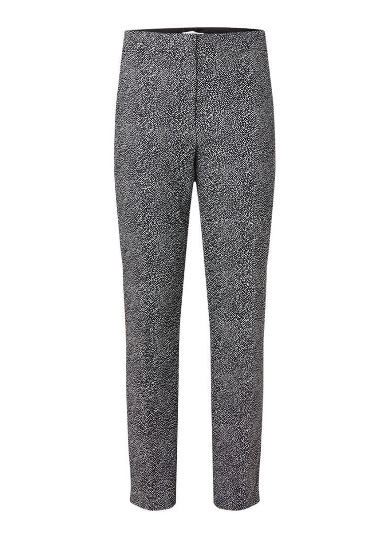 HUGO BOSS Acnes slim fit pantalon in katoenblend met micro stippendessin