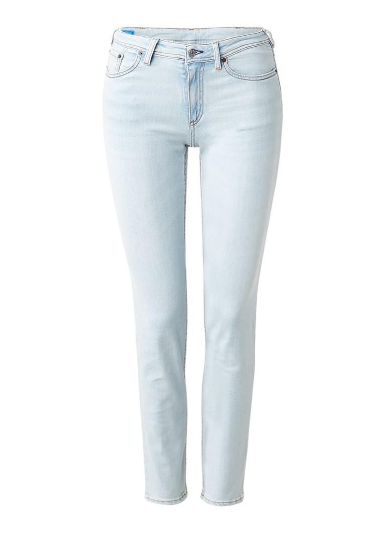 Acne Studios Climb mid rise slim fit jeans met lichte wassing
