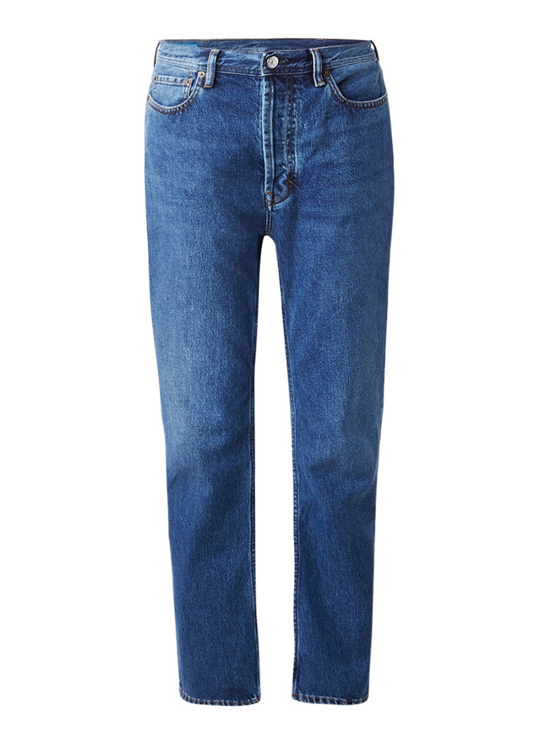 Acne Studios Log high rise loose fit jeans met medium wassing