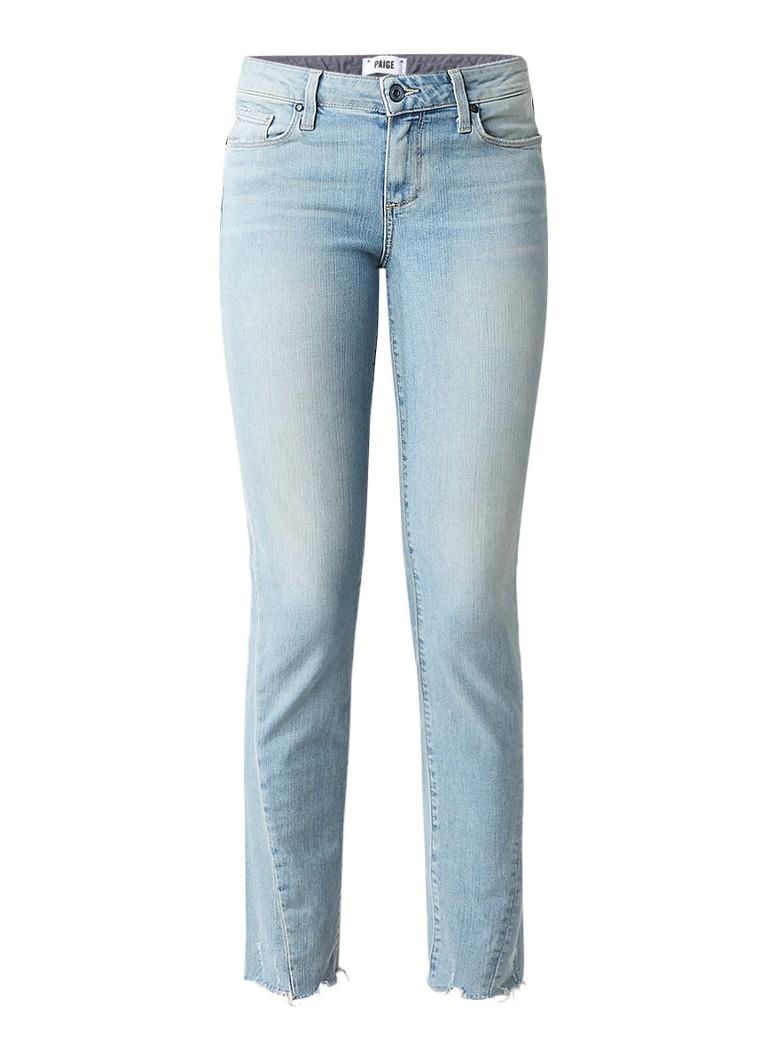 Paige Skyline cropped slim fit jeans met twisted leg