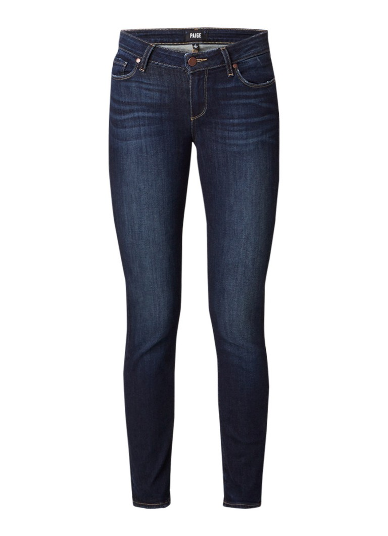 Paige Skyline cropped low rise slim fit jeans met stretch