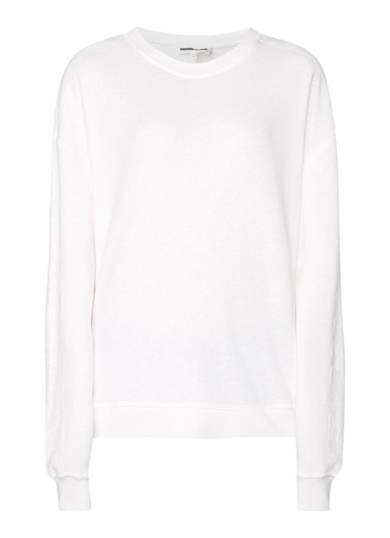 McQ Alexander McQueen Sweater met inzet van kant en rijgdetail