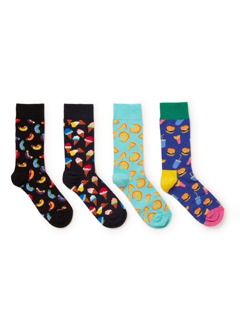 Image of Happy Socks Junkfood sokken in 4-pack giftbox