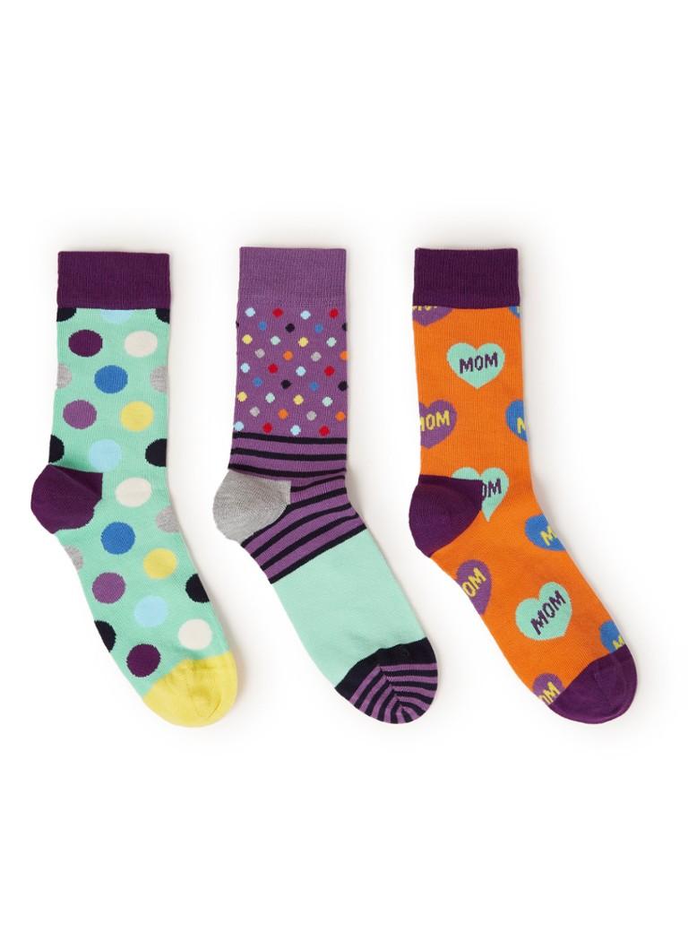 Image of Happy Socks I Love You Mom sokken in 3-pack giftbox