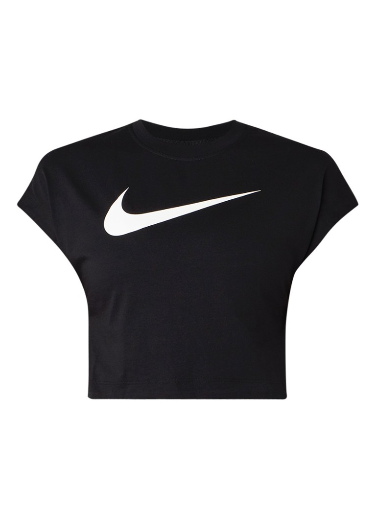 Image of Nike Essential Icon Futura cropped T-shirt