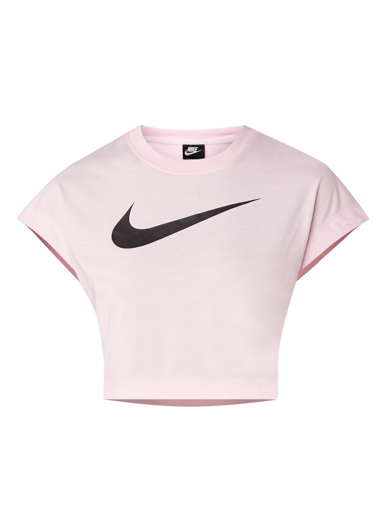 Image of Nike Swoosh cropped top met logoprint