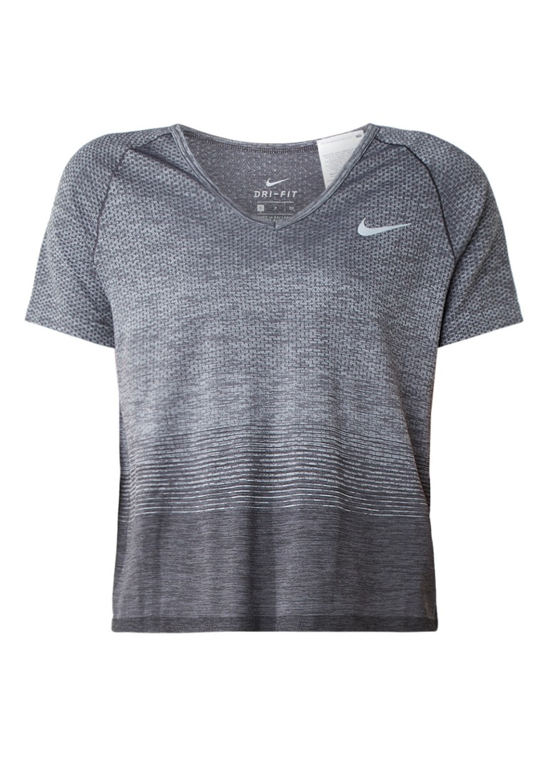 Nike Cropped gemêleerde running top