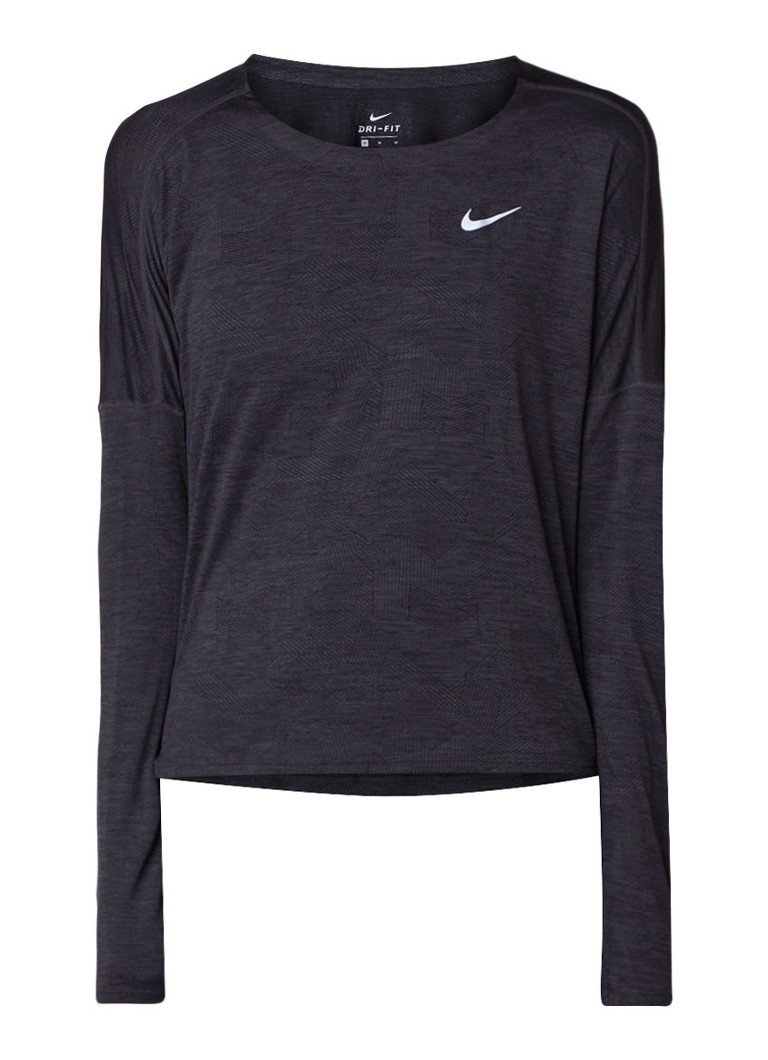 Nike Dri-FIT trainingstop met ingeweven dessin