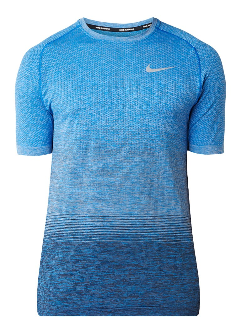 Nike Dri-FIT hardlooptop met reflecterende logo opdruk