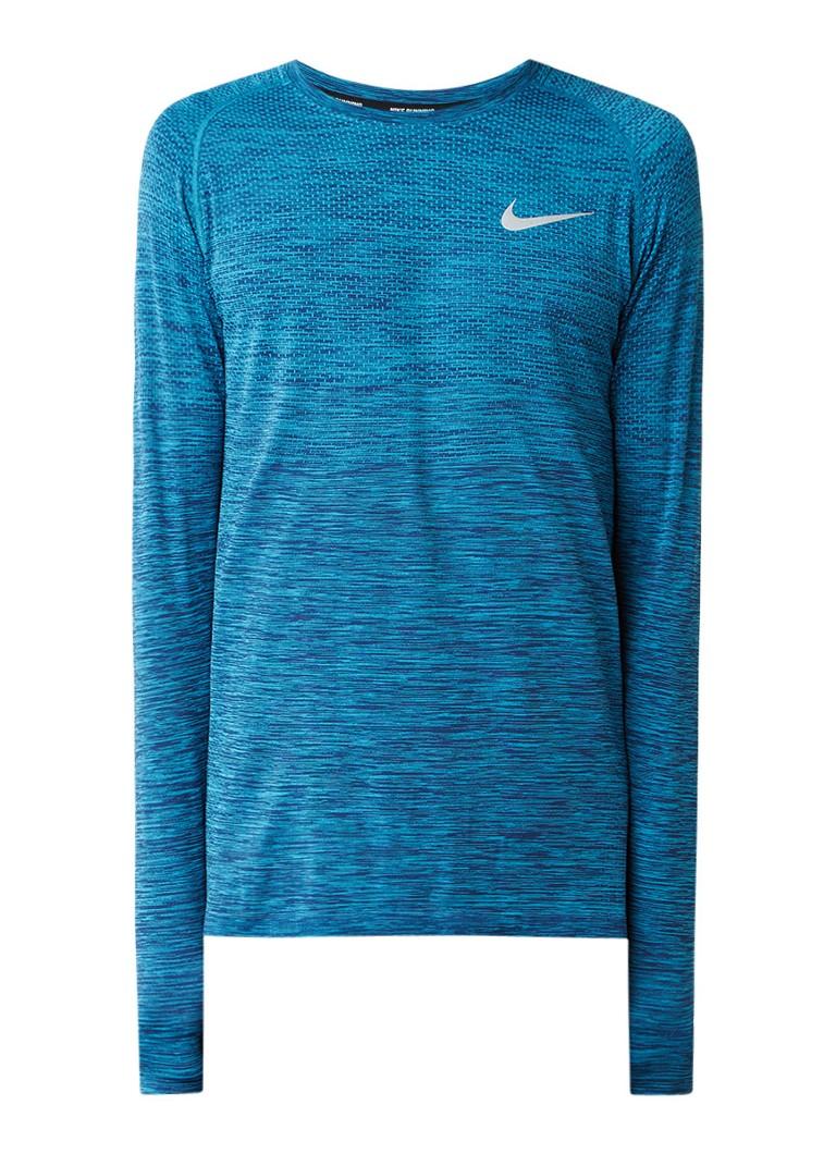Nike Dri-fit hardloopshirt met gemêleerd dessin en logo