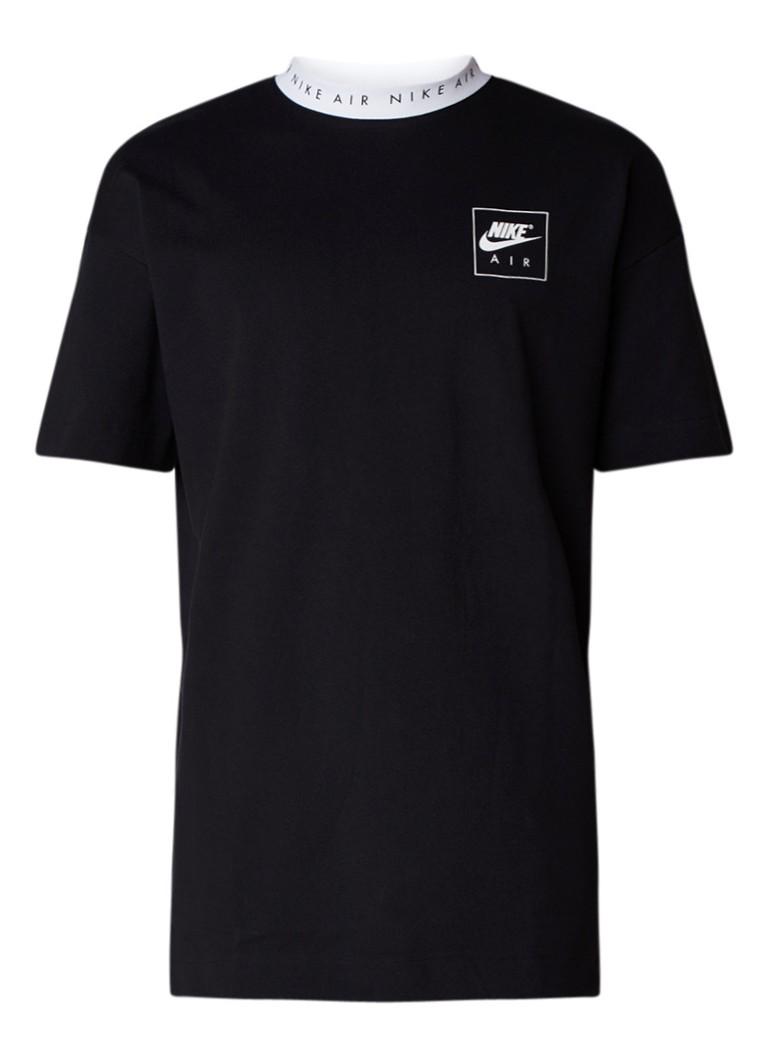 Nike T-shirt met logoprint kraag van stevig katoen