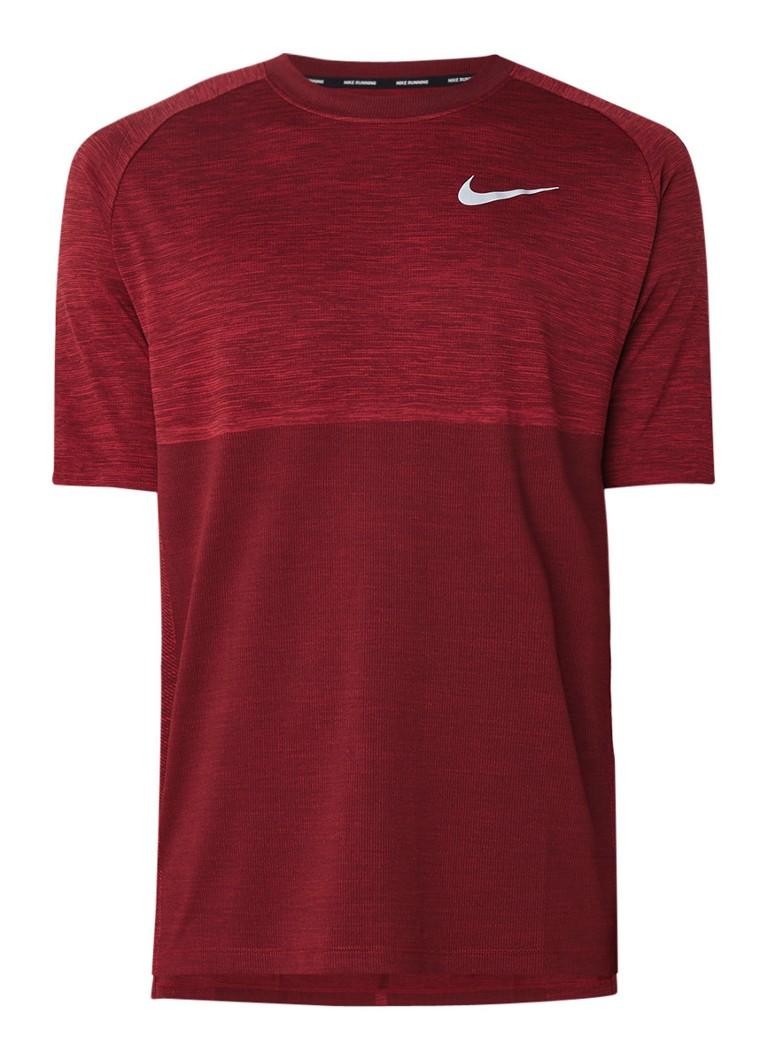 Nike Medalist hardloop T-shirt met gemêleerd dessin
