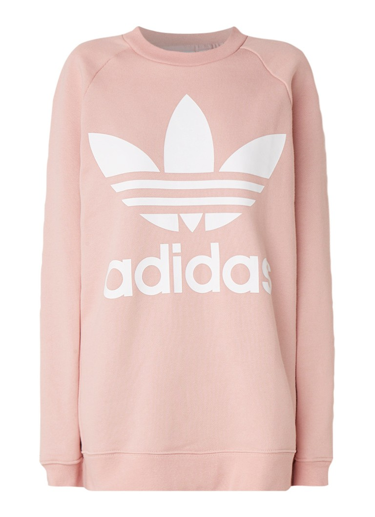 Image of adidas Oversized sweater met logoprint