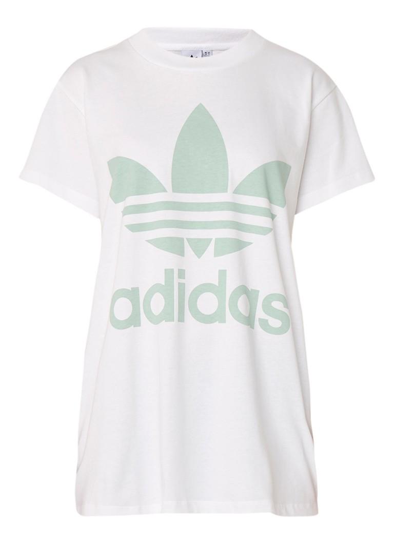 adidas Big Trefoil oversized T-shirt met logoprint