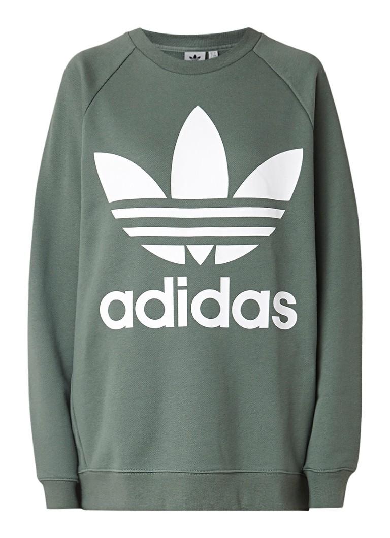 adidas Oversized sweater met logoprint