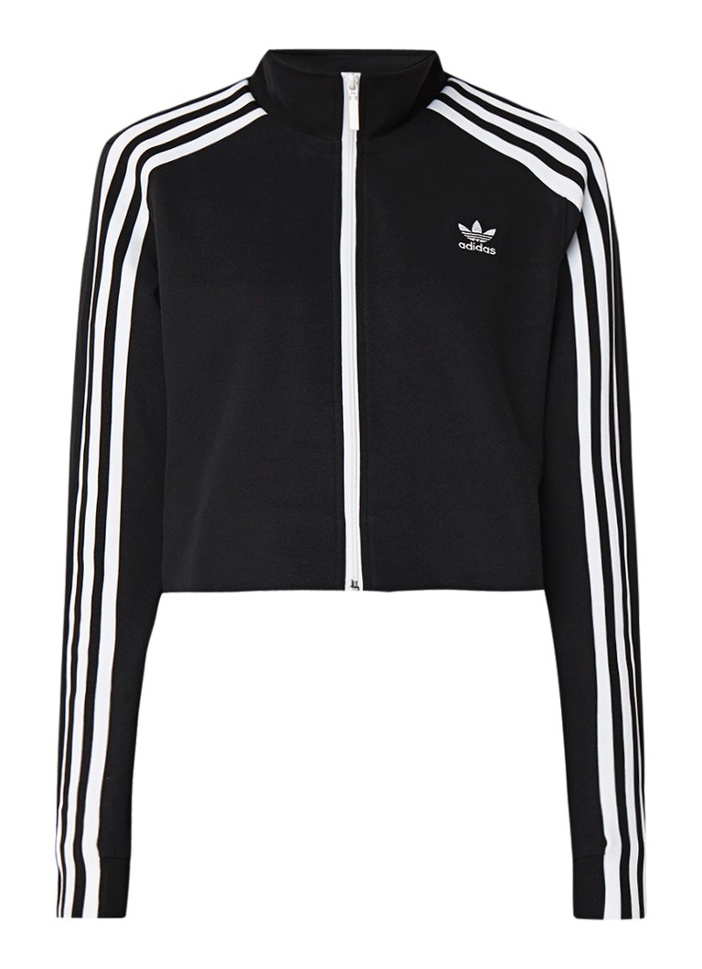 Image of adidas 3-Stripe cropped sweatvest met streepdetails