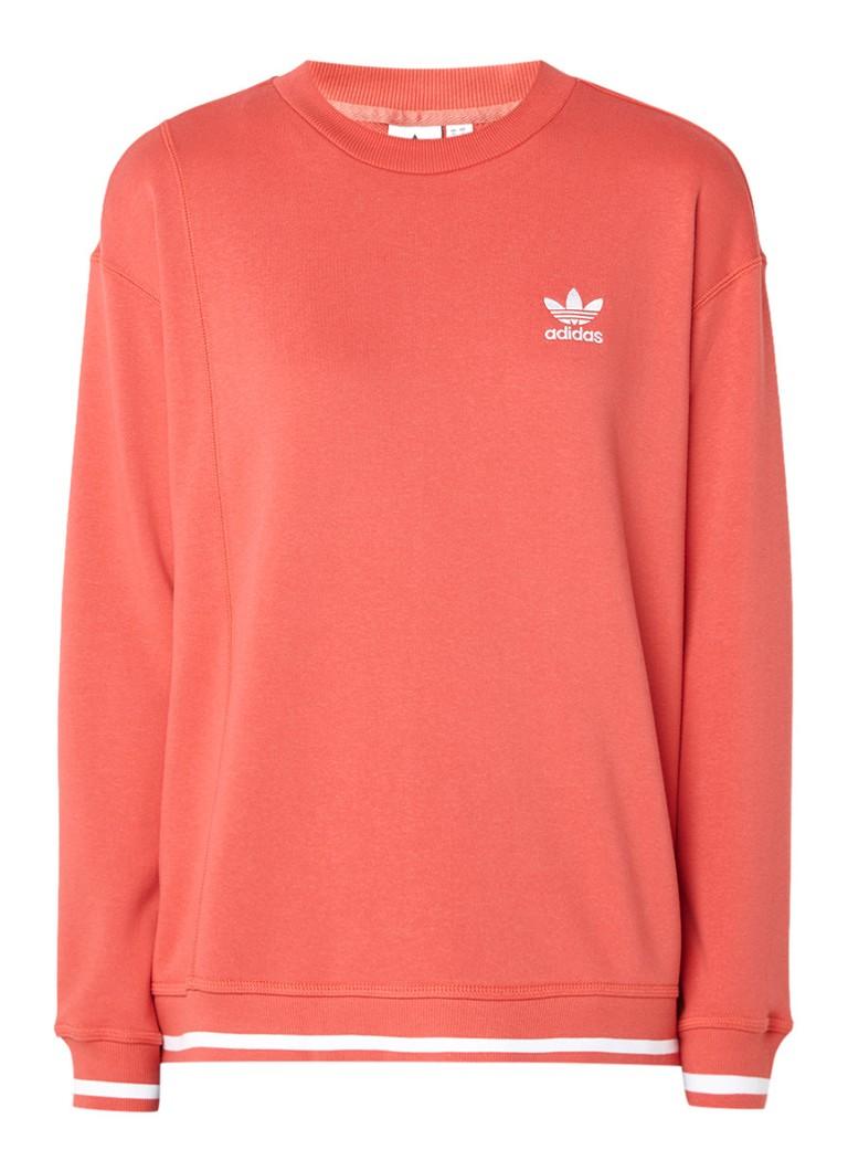 adidas Sweater met logoborduring en getipte boorden