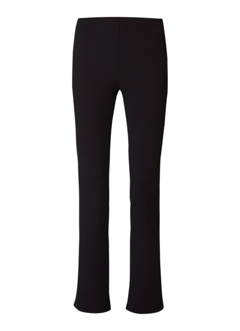 SuperTrash Libby ribgebreide flared fit legging