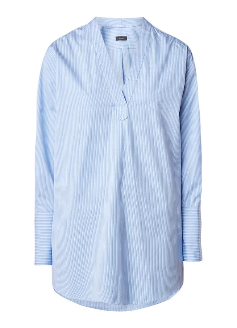 Joseph Poplin blouse met streepdessin