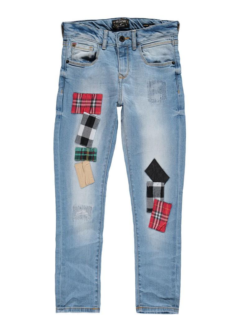 Vingino Coco slim fit jeans met patches en destroyed details