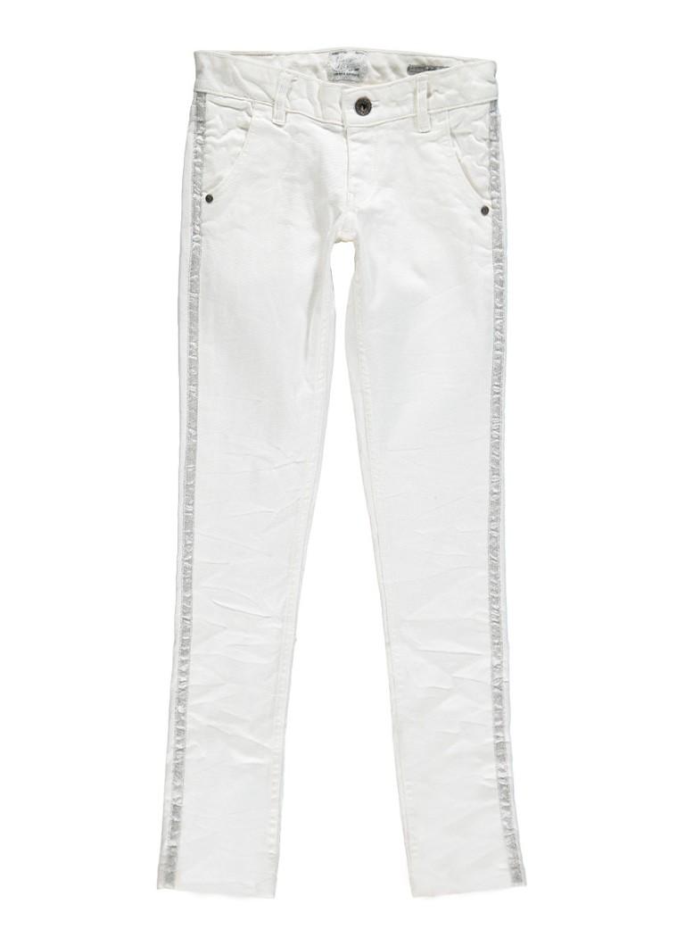 Vingino Amelie skinny fit jeans met bies van lurex