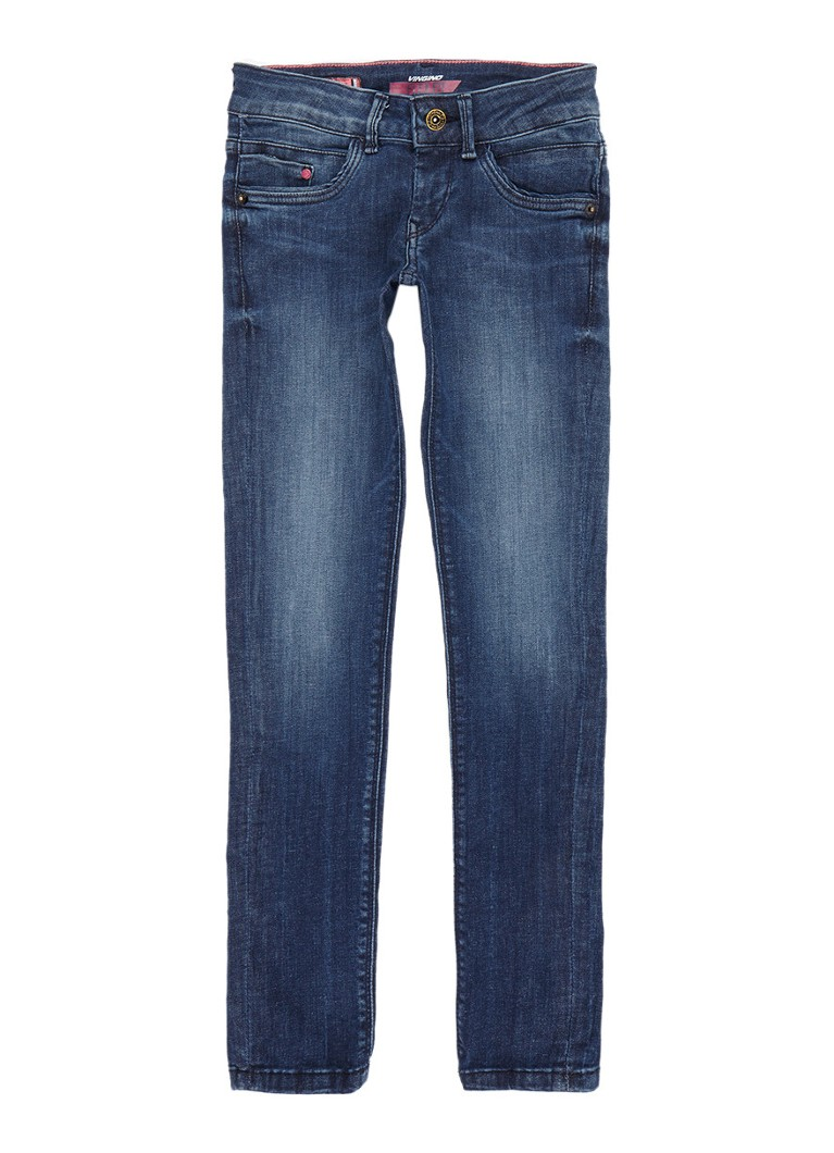 Vingino Gina skinny fit jeans met donkere wassing