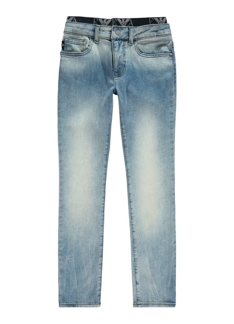 Armani Slim fit jeans met lichte wassing