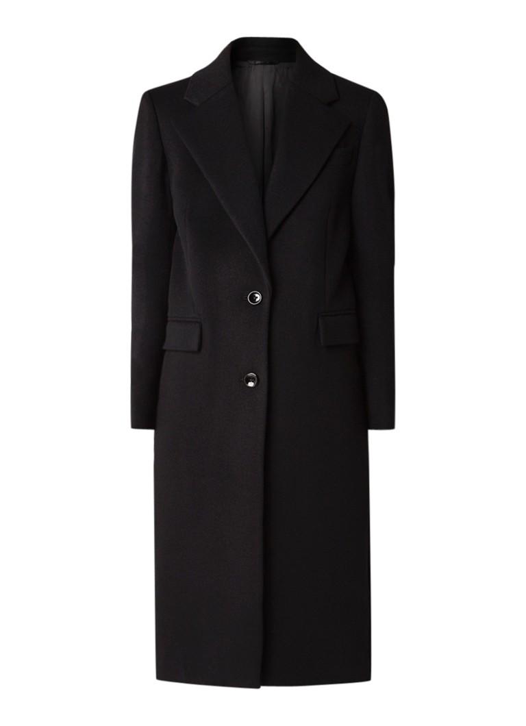 Joseph Magnus mantel van wol met klepzak