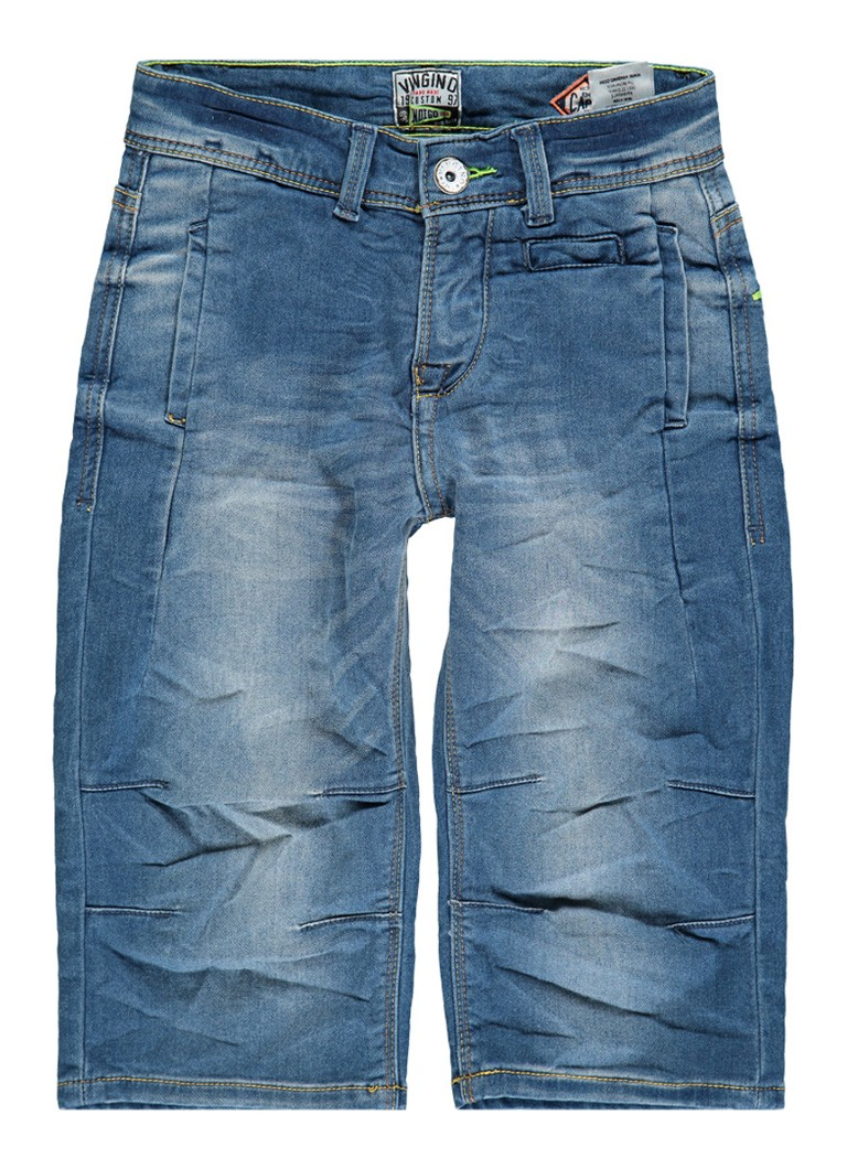 Vingino Esmond denim shorts met steekzakken