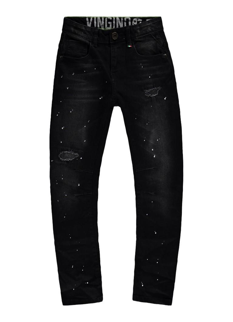 Vingino Calbert slim fit jeans met destroyed details
